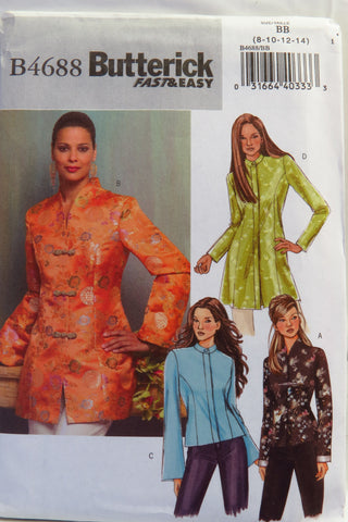 Butterick 4688 Misses'/Misses' Petite Jacket - 8-10-12-14 - Smiths Depot Sewing Pattern Superstore