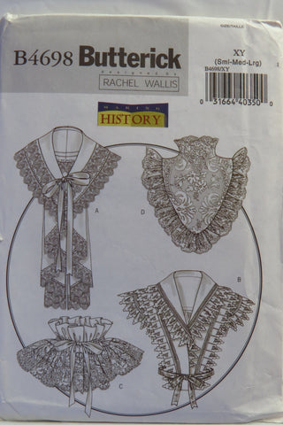 Butterick 4698 Misses' Collars Victorian - S-M-L - Smiths Depot Sewing Pattern Superstore