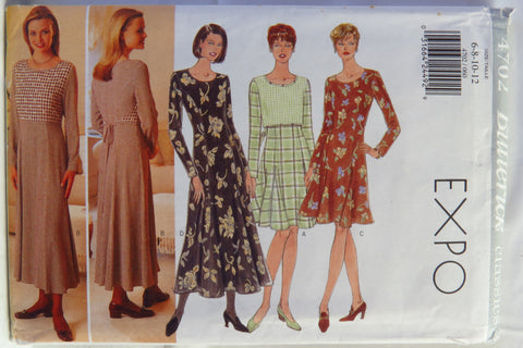 Butterick 4702 Misses' Dress -  - Smiths Depot Sewing Pattern Superstore