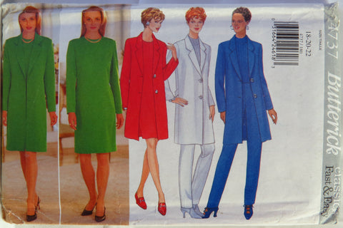 Butterick 4737 Misses Jacket, Dress and Pants - 18-20-22 - Smiths Depot Sewing Pattern Superstore