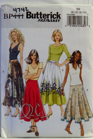 Butterick 0441 Misses' Skirt - 8-10-12-14 - Smiths Depot Sewing Pattern Superstore