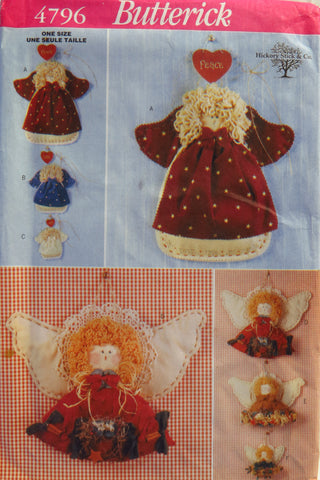 Butterick 4796 Decorative Angels -  - Smiths Depot Sewing Pattern Superstore