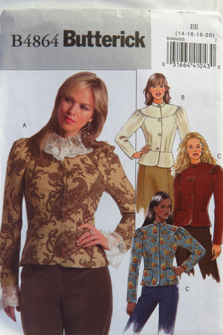 Butterick 4864 Misses' Jacket - 14-16-18-20 - Smiths Depot Sewing Pattern Superstore
