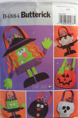 Butterick 4884 Halloween Trick or Treat Bags -  - Smiths Depot Sewing Pattern Superstore