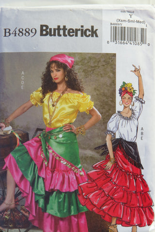 Butterick 4889 Misses' Costume - XS-S-M - Smiths Depot Sewing Pattern Superstore  - 1