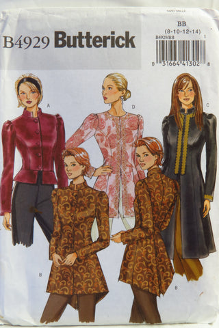 Butterick 4929 Misses' Jackets - 8-10-12-14 - Smiths Depot Sewing Pattern Superstore