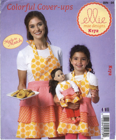 Kwik-Sew 0172 Misses'/Girls'/Dolls' Apron -  - Smiths Depot Sewing Pattern Superstore