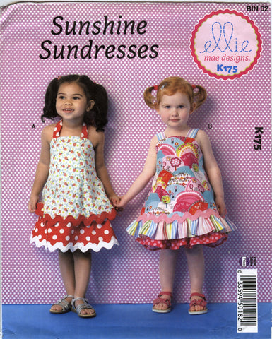 Kwik-Sew 0175 Toddlers' Dresses - A (1-2-3-4) - Smiths Depot Sewing Pattern Superstore