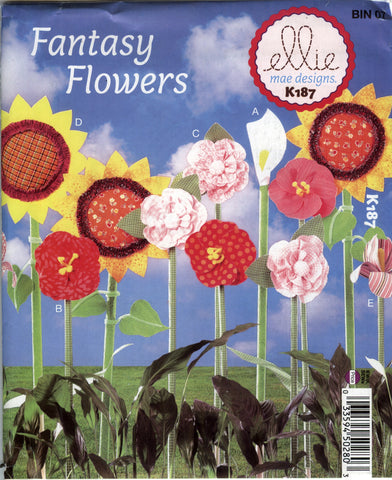 Kwik-Sew 0187 Fabric Flowers -  - Smiths Depot Sewing Pattern Superstore