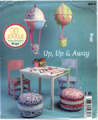 Kwik-Sew 0197 Cushion and Hot Air Balloon Decorations -  - Smiths Depot Sewing Pattern Superstore