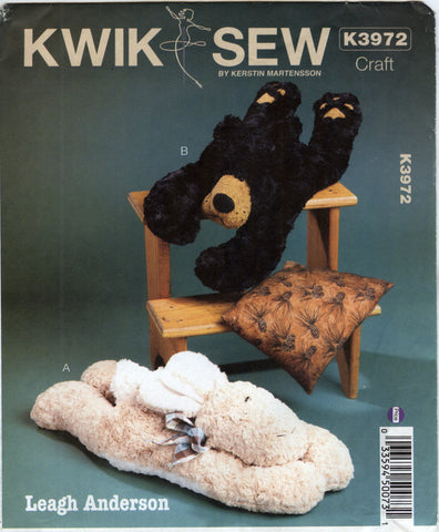 Kwik-Sew 3972 Forest Friendly Neck Bag Warmers -  - Smiths Depot Sewing Pattern Superstore