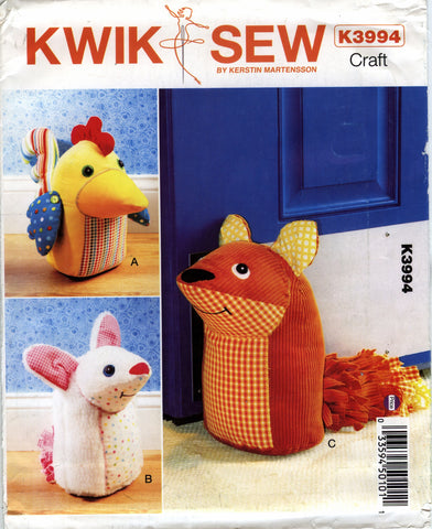 Kwik-Sew 3994 Door Stops -  - Smiths Depot Sewing Pattern Superstore