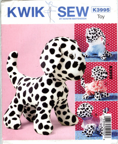 Kwik-Sew 3995 Plush Toy Dog and Clothes -  - Smiths Depot Sewing Pattern Superstore