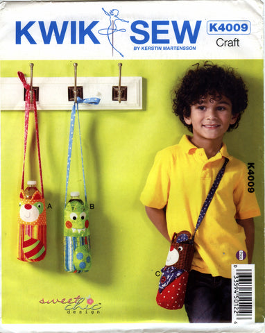 Kwik-Sew 4009 Water Bottle Carriers -  - Smiths Depot Sewing Pattern Superstore