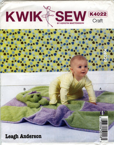 Kwik-Sew 4022 Blanket and Toy -  - Smiths Depot Sewing Pattern Superstore