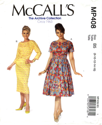 McCall's 0408 Misses'/Women's Dresses - B5 (8-10-12-14-16) - Smiths Depot Sewing Pattern Superstore  - 1