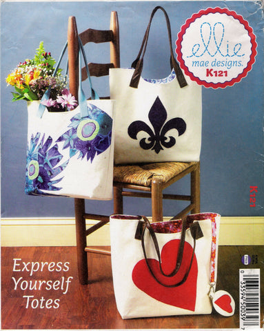Kwik-Sew 0121 Bags with Appliques -  - Smiths Depot Sewing Pattern Superstore