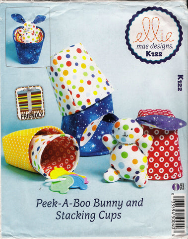 Kwik-Sew 0122 Peek-A-Boo Bunny and Stacking Cups -  - Smiths Depot Sewing Pattern Superstore