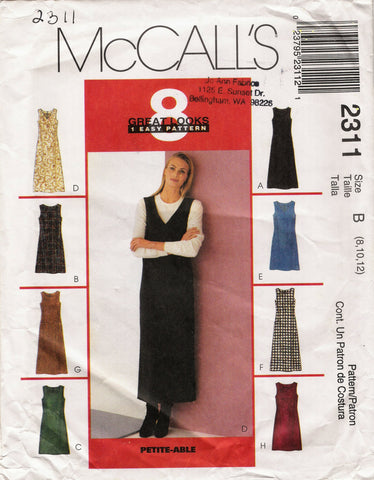 McCall's 2311 Misses' Dress or Jumper in Two Lengths