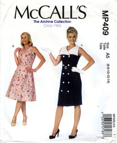 McCall's 0409 Misses' Dresses and Belt - A5 (6-8-10-12-14) - Smiths Depot Sewing Pattern Superstore  - 1