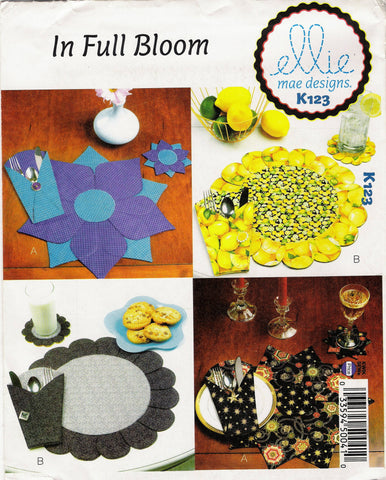 Kwik-Sew 0123 In Full Bloom Festive Table Decorations -  - Smiths Depot Sewing Pattern Superstore