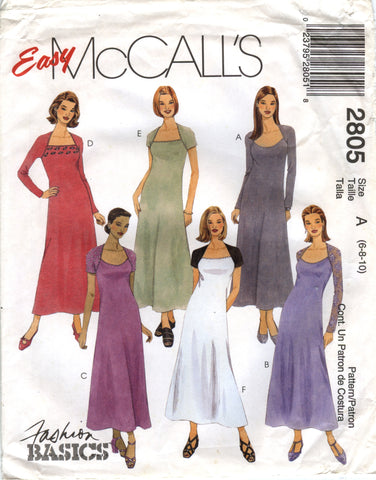 McCall's 2805 Misses'/Miss Petite Dress - A (6-8-10) - Smiths Depot Sewing Pattern Superstore