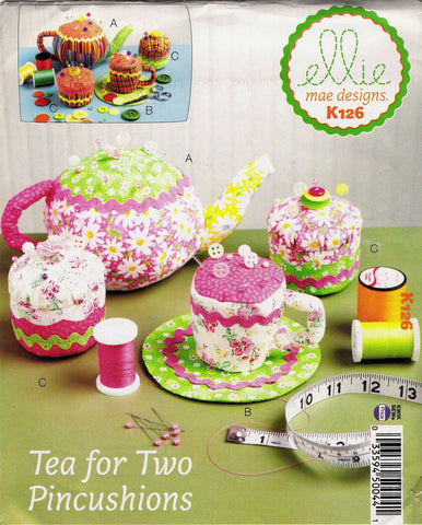 Kwik-Sew 0126 Tea for Two Pincushions -  - Smiths Depot Sewing Pattern Superstore