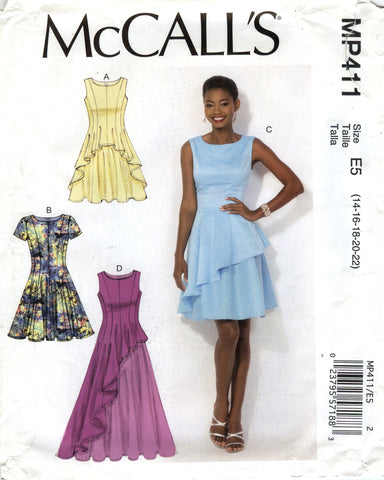 McCall's 0411 Misses' Dresses - E5 (14-16-18-20-22) - Smiths Depot Sewing Pattern Superstore