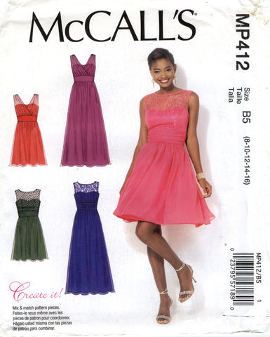 McCall's 0412 Misses'/Women's Dresses - B5 (8-10-12-14-16) - Smiths Depot Sewing Pattern Superstore  - 1