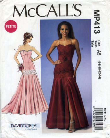 McCall's 0413 Misses'/Miss Petite Dresses and Belt - A5 (6-8-10-12-14) - Smiths Depot Sewing Pattern Superstore  - 1