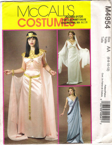 McCall's 4954 Misses' Goddess Dress Costume