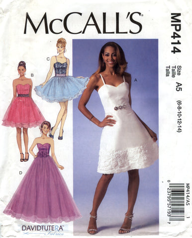McCall's 0414 Misses' Dresses - A5 (6-8-10-12-14) - Smiths Depot Sewing Pattern Superstore  - 1