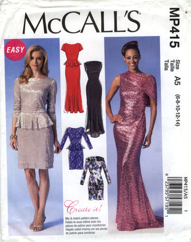 McCall's 0415 Misses' Dresses - A5 (6-8-10-12-14) - Smiths Depot Sewing Pattern Superstore  - 1