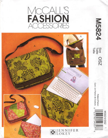 McCall's 5824 Handbags, Bags and Laptop Cover