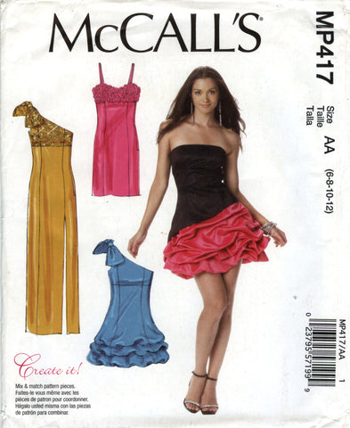 McCall's 0417 Misses' Lined Dresses - AA (6-8-10-12) - Smiths Depot Sewing Pattern Superstore  - 1