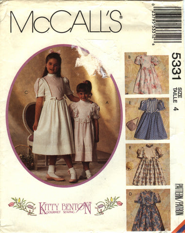 McCall's 5331 Children's/Girls' Dresses - (4) - Smiths Depot Sewing Pattern Superstore