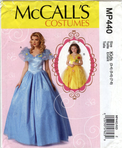 McCall's 0440 Misses'/Children's/Girls' Costumes - Kids (3-4-5-6-7-8) - Smiths Depot Sewing Pattern Superstore