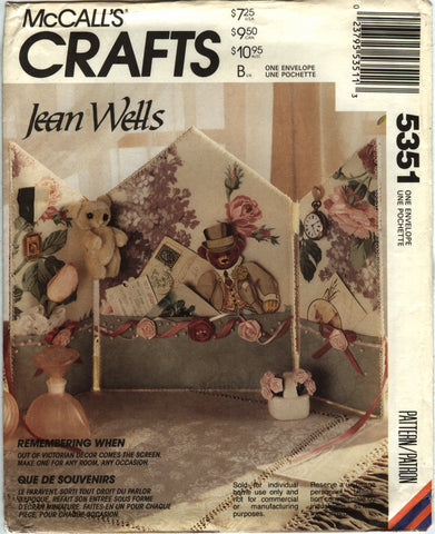 McCall's 5351 Victorian Decoration Screen -  - Smiths Depot Sewing Pattern Superstore