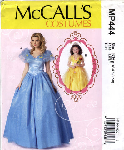 McCall's 0444 Misses'/Children's/Girls' Costumes - Kids (3-4-5-6-7-8) - Smiths Depot Sewing Pattern Superstore  - 1