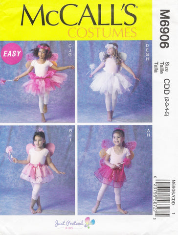 McCall's 6906 Children's/Girls' Costumes - CDD (2-3-4-5) - Smiths Depot Sewing Pattern Superstore