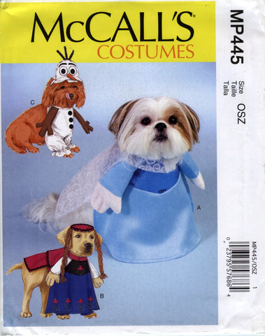 McCall's 0445 Pet Costumes -  - Smiths Depot Sewing Pattern Superstore