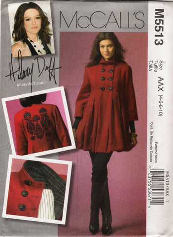McCall's 5513 Misses' Lined Coat - AAX (4-6-8-10) - Smiths Depot Sewing Pattern Superstore