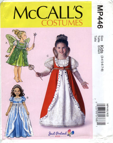 McCall's 0446 Children's/Girls' Costumes - Kids (3-4-5-6-7-8) - Smiths Depot Sewing Pattern Superstore
