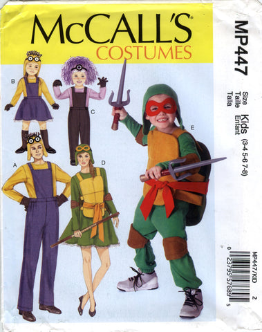 McCall's 0447 Adults'/Children's/Boys'/Girls' Costumes - Kids (3-4-5-6-7-8) - Smiths Depot Sewing Pattern Superstore  - 1
