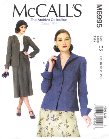 McCall's 6995 Misses' Jackets - E5 (14-16-18-20-22) - Smiths Depot Sewing Pattern Superstore
