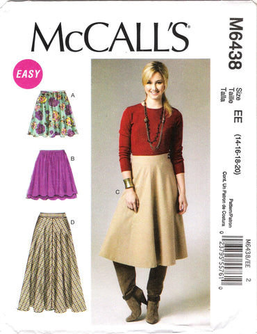 McCall's 6438 Misses' Skirts
