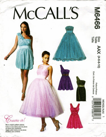 McCall's 6466 Misses' Lined Dresses and Flower