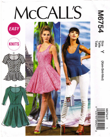 McCall's 6754 Misses' Tops and Dresses