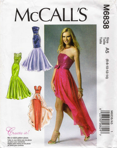 McCall's 6838 Misses' Dresses and Belt