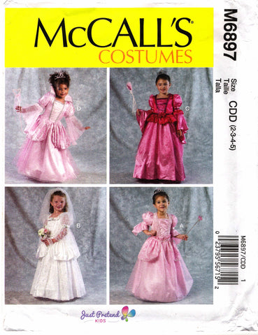McCall's 6897 Children's/Girls' Dress Costumes